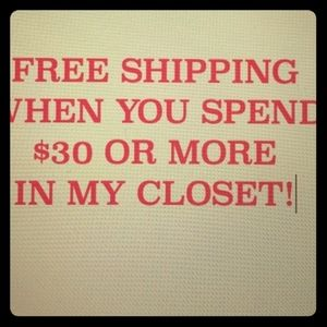 Accessories - Spend $30+ get free shipping